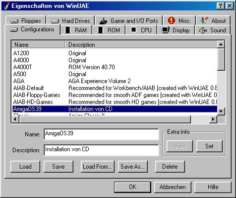 Installation of AmigaOS 3 9 under WinUAE